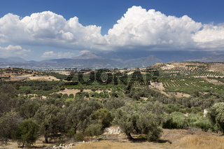 Landschaft in der Messara Ebene auf Kreta, Griechenland