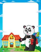 School panda theme frame 1