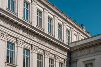 beautiful historic building facade decoration  in Berlin, Germany -