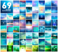 69 abstract blue turquoise and green smooth blurred vector backgrounds for design With various love quotes