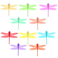 Colorful Stilized Dragonfly. Insect Logo Design. Aeschna Viridls