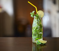 Mojito cocktail. Concept of luxury vacation.
