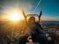 Powered paragliding tandem flight