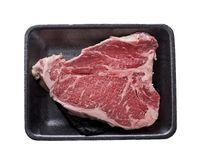 t-bone steak isolated on white background