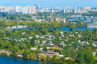 Aerial view  Kiev residential districts