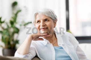 portrait of happy senior woman laughing