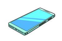 smartphone phone isolate on white background