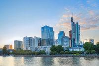 Sunset over Frankfurt-am-Main