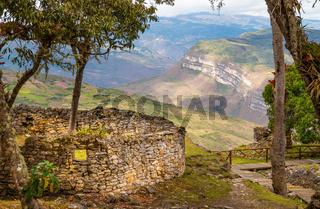 kuelap ruins in the chachapoyas region peru