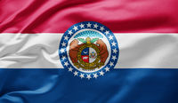 Waving state flag of Missouri - United States of America