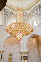 Sheikh Zayed mosque interior in Abu Dhabi city