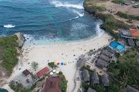 Aerial view of Dream Beach at Nusa Lembongan, Bali