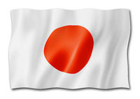 Japanese flag isolated on white