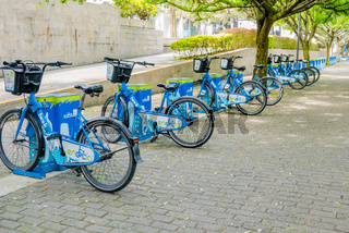 bicycles shared by the municipality of Medellin Colombia