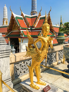 Mythical creature in the Wat Phra Kaeo, the Temple of the Emerald Buddha