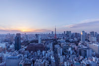 cityscape of modern city in tokyo japan