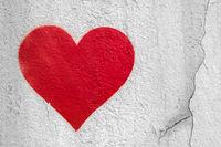 Red urban Heart