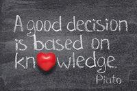 good decision Plato