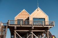 Characteristic Stilt House on the Beach of Sankt Peter-Ording in Germany