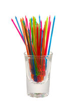 Colorful isolated food sticks