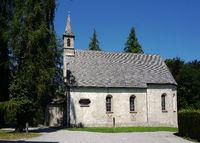 Kirche St. Maria auf der Insel Herrenchiemsee, Bayern, Deutschland