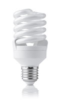 Front view of compact fluorescent lamp