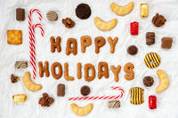 Gingerbread Letters, Candy Christmas Collection, Happy Holidays