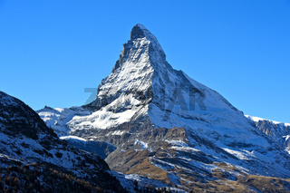 Matterhorn mit Hörnligrat, Zermatt, Wallis, Schweiz