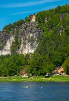 Die Elbe an der Bastei