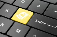 Politics concept: Ballot on computer keyboard background