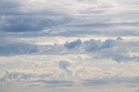 Cloudy skies in beautiful pastel blue