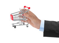 Hand with shopping cart