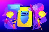 Chatbot AI concept vector illustration.