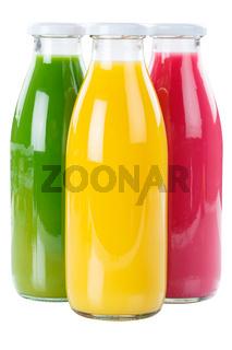 Saft Orangensaft Smoothie Smoothies Flasche Fruchtsaft freigestellt Freisteller isoliert