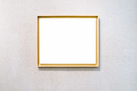 blank picture frame on exhibition wall