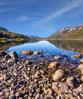Lake with stony bottom at the resort