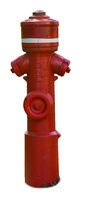German red hydrant isolated from background