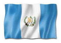 Guatemalan flag isolated on white