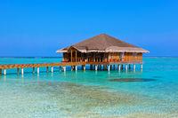Spa saloon on Maldives island