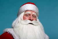 Close-up christmas face portrait of russiad Santa Claus Ded Moroz