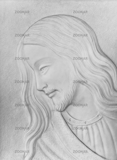 White stone Bas-relief