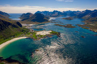 Beach Lofoten archipelago islands beach