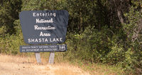 The Entrance Sign Marking Shasta Lake National Recreation Area