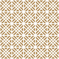 Seamless geometric pattern in golden and white.Japanese style Kumiko.ROUNDED CORNERS.