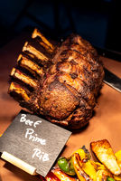 Wagyu beef roast prime rib