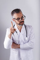 Portrait of middle age doctor
