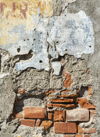 Damaged Brick Wall Background