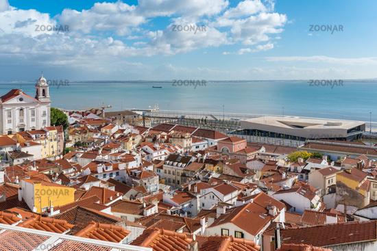 The Alfama district, the oldest neighborhood of Lisbon
