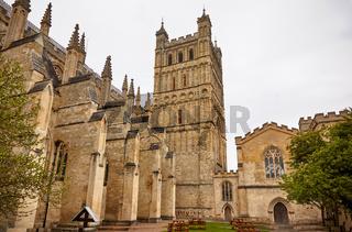 The south side of Exeter Cathedral. Exeter. Devon. England