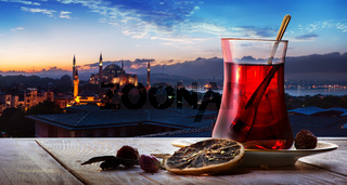 Tea and mosque